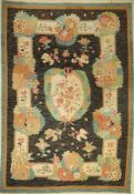 Bessarabia kilim antique, around 1900, wool onwool, approx. 292 x 203 cm, decorative, very rare,