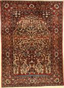 Bakhtiar old, Persia, approx. 60 years, wool on cotton, approx. 204 x 144 cm, condition: 2 -3.