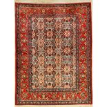 Esfahan old, Persia, approx. 60 years, wool oncotton, approx. 198 x 150 cm, condition: 2-3,