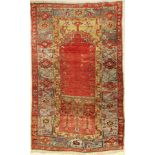 Anatol Prayer Rug, Turkey, around 1940, wool on wool, approx. 171 x 108 cm, condition: 3. Auction:
