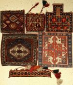(5 lots) old bags, Persia, around 1920-1950, wool on wool, collectable, condition: 2-3. Auction: