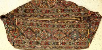 Shahsavan Mafrash antique, Persia, 19th century, wool on wool, condition: 3 (complete Mafrsc h