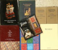 "28 books ""Rug literature"", good conditions. Auction: Antique, old and decorative rugs & carpets."