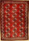 Kizel-Ayak main carpet, antique, Turkmenistan,around 1900, wool on wool, approx. 323 x 229 cm,