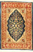 Seiden Hereke old (signed), Turkey, approx. 60years, pure natural silk, approx. 83 x 57 cm,