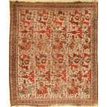 Antique Khamseh, Persia, late 19th century, wool on wool, approx. 188 x 160 cm, rare pattern type,