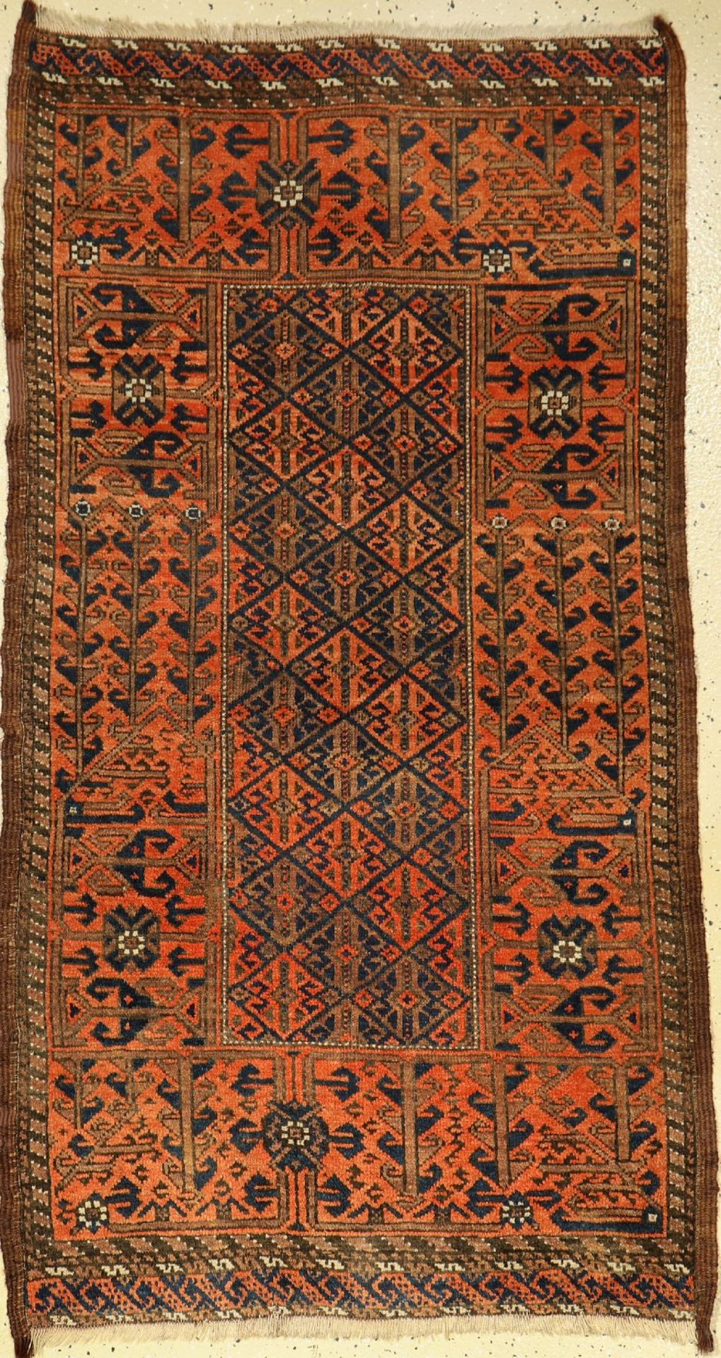 Baluch old, Persia, around 1920, wool on wool,approx. 150 x 83 cm, condition: 2-3. Auction: Antique,