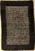 Sirt blanket old, Turkey, around 1930, goat hair on cotton, approx. 190 x 128 cm, rare,