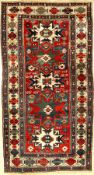 Kuba Shirvan antique, East Caucasus, 19th century, wool on wool, approx. 217 x 120 cm, rare,