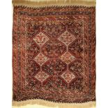 Antique khamseh (Chicken-Type), Persia, 19th century, wool on wool, approx. 190 x 160 cm, condition: