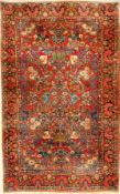 Saruk old, Persia, approx. 60 years, wool on cotton, approx. 217 x 137 cm. Auction: Antique, old and
