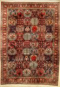 Bakhtiar old, Persia, approx. 60 years, wool on cotton, approx. 313 x 221 cm. Auction: Antique,