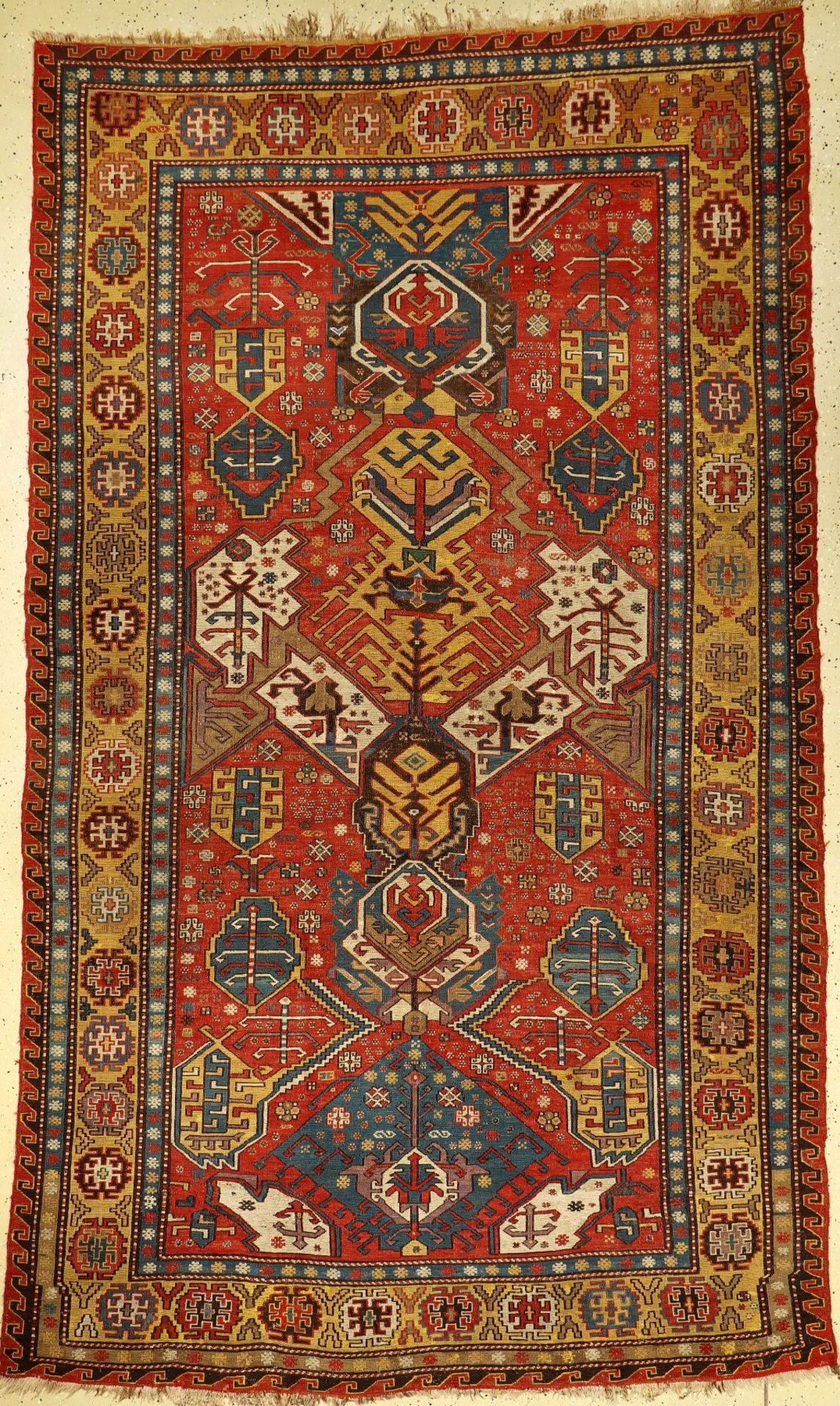 Antique Dragon Sumakh, South Caucasus, 19th century, wool knotted on wool, approx. 317 x 187 cm,