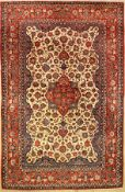 Isfahan old, Persia, approx. 60 years,wool on cotton, approx. 341 x 222 cm, condition: 2. Auction: