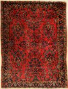 Us Saruk antique, Persia, around 1900, wool, approx. 134 x 102 cm, condition: 3-4. Auction: