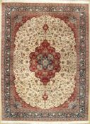 Isfahan fine, China, approx. 30 years, wool, approx. 334 x 250 cm, condition: 2-3, (needs acleaning,