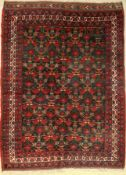Sirjan old dated, Persia, around 1930, wool oncotton, approx. 191 x 147 cm, condition: 3. Auction: