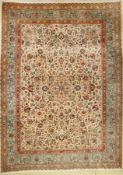 Tabriz Tabatabai carpet (signed), Persia, approx. 50 years, wool on cotton, approx. 346 x 256 cm,