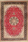 Tabriz fine, Persia, approx. 40 years, wool with silk, approx. 307 x 205 cm, condition: 2 -3.