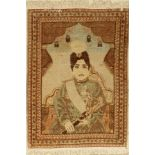 Antique Tabriz (Shah Ahmad), Persia, around 1900, wool on cotton, approx. 80 x 57 cm, condition: 3-