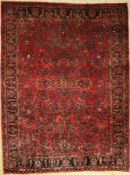 Us Saruk antique, Persia, around 1900, wool, approx. 368 x 266 cm, condition: 2-3. Auction: