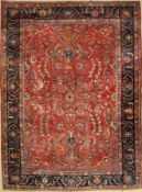 Saruk Mohajeran antique, (US re-import), Persia, around 1890, wool, approx. 357 x 264 cm, condition: