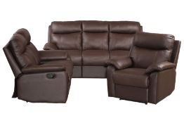 Seating group, consisting of 2 1/2-seater sofa, 2-seater sofa and armchairs, seats and back with