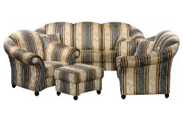 "4 Pieces Seating Set, ""Schröno"", made in Germany, consisting of 2- and 3-seater sofa, armchair and"