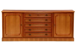 "Sideboard, ""Anno Dom"", Germany, 1973, partly Solid cherry wood, cherry veneer, 5 drawers with"