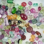 Lot loose coloured gemstones , total approx.41.6 ct, different sizes and cuts, i.a. peridots,