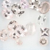 Lot loose bevelled morganites , total 17.61 ct, in different shapes Valuation Price: 600, - EURLot