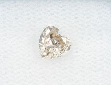 Lose diamond heart 0.37 ct , Natural, Light Pinkish Brown, GIA expertise Valuation Price: 2450, -