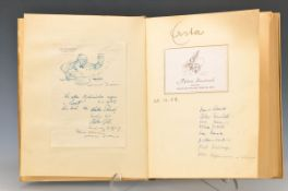 visitors' book of the Villa Hess in Speyer, of 1948 until 1965, inter alia many artist and people of