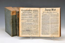 3 books: Neue Speyerer Zeitung, volume Marz 1848 until Dec. 1848, January 1849 - Dec. 1849 and