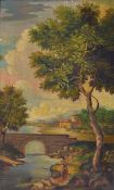 Unidentified artist, around 1900, after a model around 1780, Ideal Italian landscape, oil /