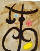 Joan Miro, 1893-1983, nine color lithographs from: Femmes, text by Claude Simon, Maeght Paris