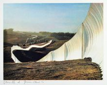 Christo, 1935 - 2009, Running Fence californiaheliogravure on BFK paper, hand signed and num. 54/60,