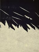 Günther Uecker, born 1930, woodcut on fine handmade Japan handmade paper, signed by hand,num. 16/50,
