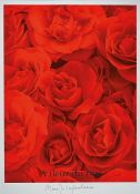 """Marie-Jo Lafontaine, born 1950, color screen print on cardboard, # """"A fleur du mal #"""" from 1999,"""