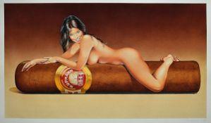 Mel Ramos, born 1935, title: Hav-a-Havannah, color offset lithograph, printer publisher: New York