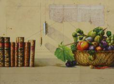 Wolfgang Zellmann, born 1948, mixed media on acrylic / canvas / wood, signed, num. 13/18, frame,