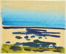 Siegward Sprotte, 1913 Potsdam-2004 Sylt, on the beach, watercolor on paper, signed lower left,