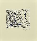 A.R. Penck, 1939 - 2017, screen print, signed and inscribed, e.a. (Artist's copy from an edition