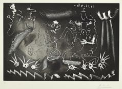 Pablo Picasso, 1881 - 1973, aquatint and drypoint etching on BFK Rives paper with watermark,