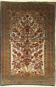 Ghom alt mit Seidengrund, Persien, ca. 40 Jahre, Korkwolle mit Seide, ca. 120 x 78 cm, EHZ: 2-3
