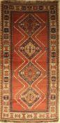 Kars Kazak alt, Türkei, um 1940, Wolle auf Wolle, ca. 266 x 133 cm, EHZ: 2-3