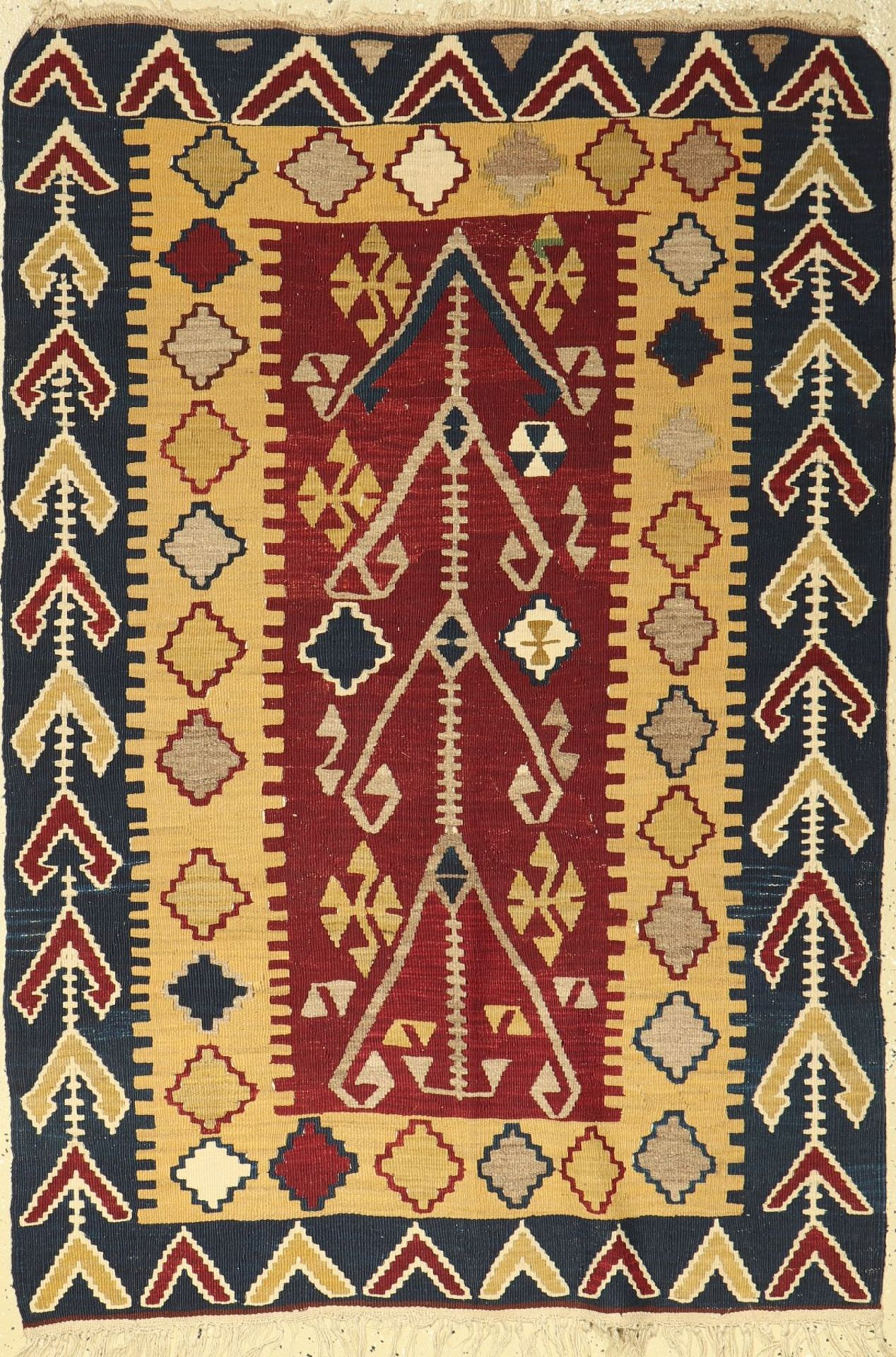 Anatolischer Kelim alt, Türkei, um 1940, Wolle auf Wolle, ca. 153 x 102 cm, EHZ: 2-3