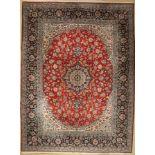 Esfahan Nadjafabad alt, Persien, ca. 60 Jahre, Wolle auf Baumwolle, ca. 407 x 305 cm, dekorativ,