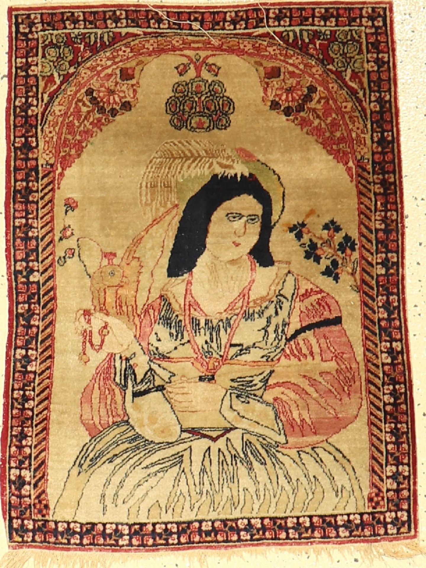 Kerman Ravar antik, Persien, um 1890, Wolleauf Baumwolle, ca. 77 x 58 cm, EHZ: 3