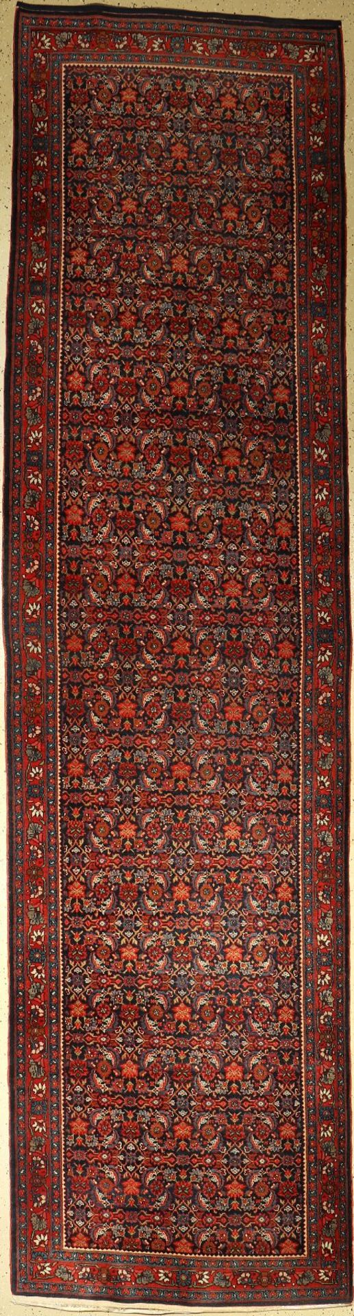 Bidjar alt (Galerie), Persien, um 1930, Korkwolle, ca. 450 x 115 cm, EHZ: 2-3